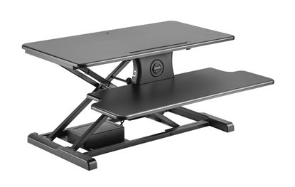 Picture of BRATECK Sit-Stand Desktop Workstation Stand. Electric assist.