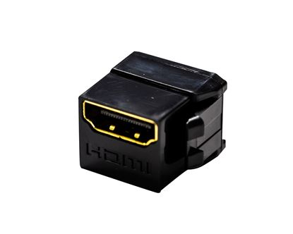 Picture of DYNAMIX HDMI 2.0 Mini Coupler 19.2mm, Gold-Plated, BLACK