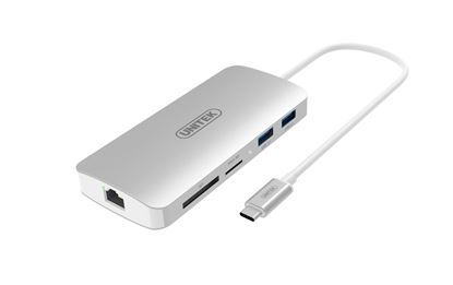 Picture of UNITEK USB 3.1 USB-C Aluminium Multi-Port Hub with Power Delivery.