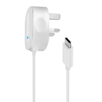 Picture of PROMATE Portable USB Type-C 5V, 3A Wall Charger. With built in 1.5m