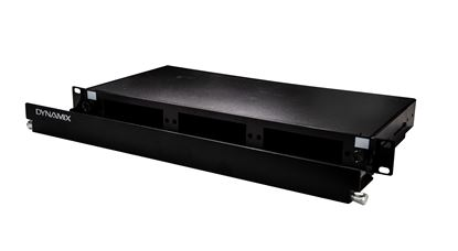 "Picture of DYNAMIX 19"" 1U Fibre Patch Panel Three Slot. Metal Sliding Drawer"