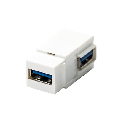 Picture of DYNAMIX USB 3.0 Keystone Jack USB-A Female to Right Angled