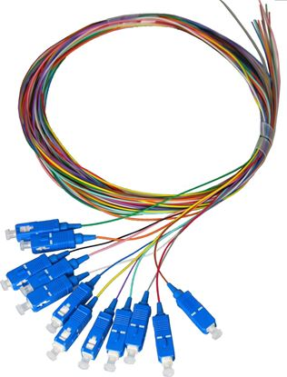 Picture of DYNAMIX 2M LC Pigtail OM1 6x Pack Colour Coded, 900um Multimode