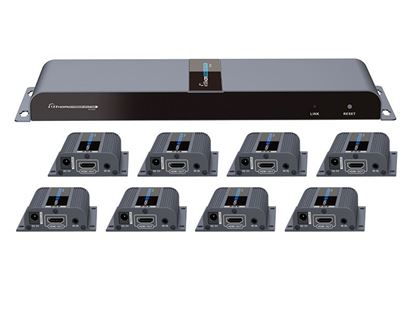 Picture of LENKENG 1 in 8 Out HDMI Extender. 1x HDMI in to 8x  RJ45 out. 8x