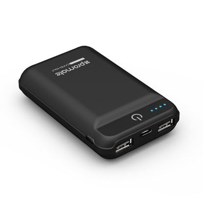 Picture of PROMATE Ultra-Portable 10050mAh Power Bank. Dual USB Ports.