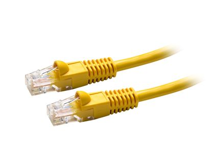Picture of DYNAMIX 0.5m Cat5e OEM Yellow UTP Patch Lead (T568A Specification)