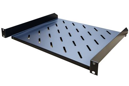 """Picture of DYNAMIX 1RU 19"""" Cantilever Shelf. 381mm Deep, Weight Rating: 18kg."""