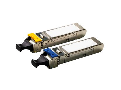 Picture of CARELINK 1.25G Single-mode WDM SFP LC Modules. Distance: 3km.