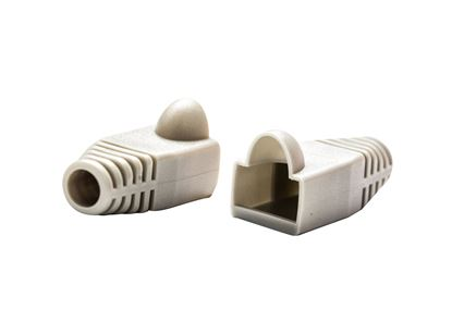 Picture of DYNAMIX BEIGE RJ45 Strain Relief Boot (6.0mm Outside Diameter). 20pk