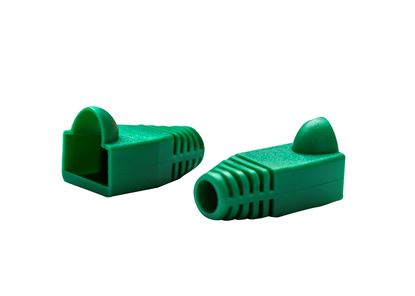 Picture of DYNAMIX GREEN RJ45 Strain Relief Boot (6.0mm Outside Diameter). 20pk