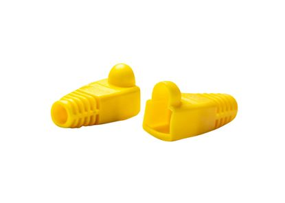 Picture of DYNAMIX YELLOW RJ45 Strain Relief Boot (6.0mm Outside Diameter). 20pk