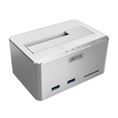 Picture of UNITEK USB3.0 Multifunction HDD Docking Station with USAP, 1x Port