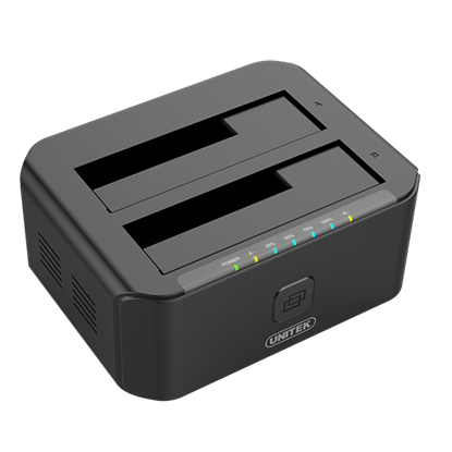"Picture of UNITEK USB3.0 to SATA 6G Dual Bay 2.5""/3.5"" HDD Docking Station. Sync"