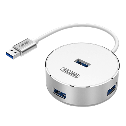Picture of UNITEK USB 3.0 4-Port Hub with Apple Style Aluminium Housing. Data