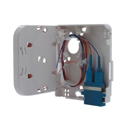 Picture of DYNAMIX FTTH Compact Wall Outlet 1 Port SC Duplex / LC Quad,