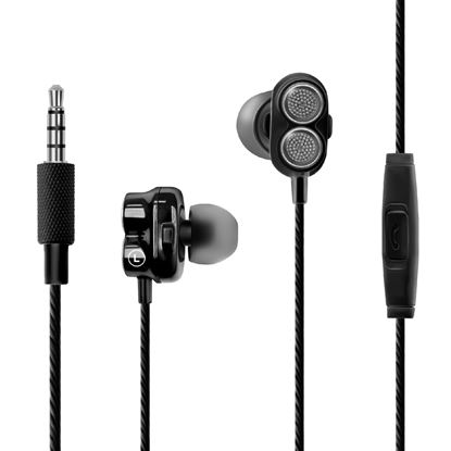 Picture of PROMATE Super Bass Dual Drive In-Ear Stereo Earphones.