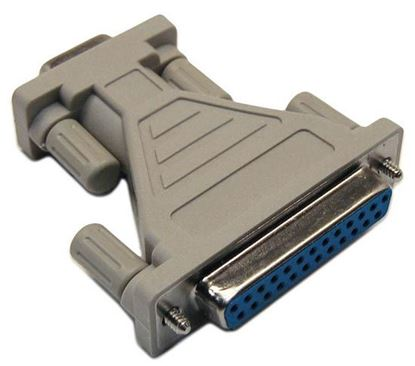Picture of DYNAMIX PC AT Modem/Mouse Adapter (DB9 Male/DB25 Female)