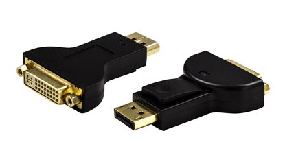 Picture of DYNAMIX DisplayPort Male to DVI-D Female Adapter. Passive Converter