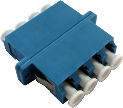 Picture of DYNAMIX Fibre LC/LC Quad Single- mode Joiner, Ceramic sleeve,