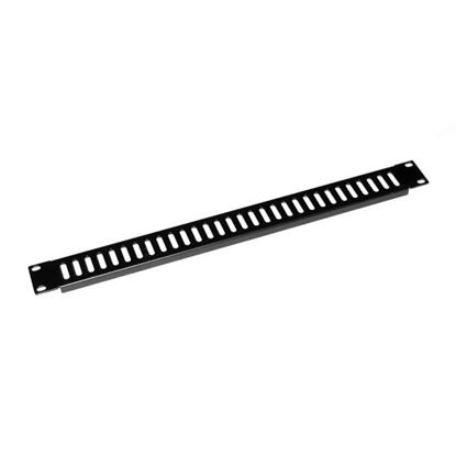 Picture of DYNAMIX AV Rack 1RU metal blanking panel with vented holes, with