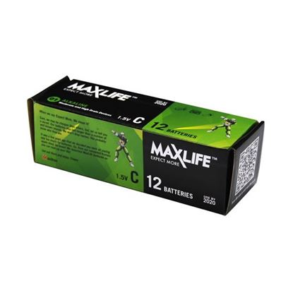 Picture of MAXLIFE C Alkaline Battery 12 Batteries Per  Pack