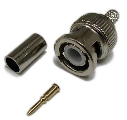 Picture of DYNAMIX BNC RG59/62 Crimp Connector. 3 piece