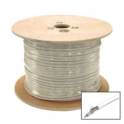 Picture of DYNAMIX 305m Roll RG6 Shielded Cable. White. 75ohm. 18AWG solid
