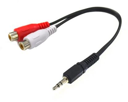 Picture of DYNAMIX 200mm Stereo 3.5mm Male to 2 RCA Female Cable