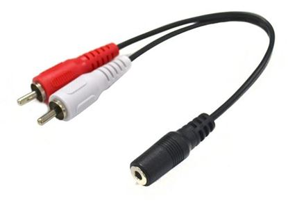 Picture of DYNAMIX 200mm Stereo 3.5mm Female to 2 RCA Male Cable