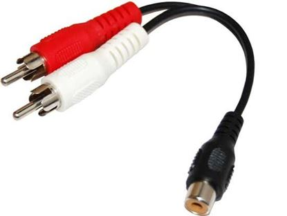 Picture of DYNAMIX 0.15m Dual RCA Male to RCA Female Cable