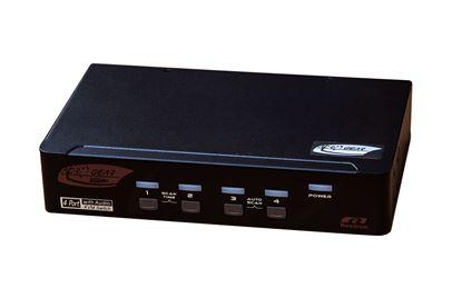 Picture of REXTRON 4 Port DVI/USB KVM Switch with Audio, Black Colour.