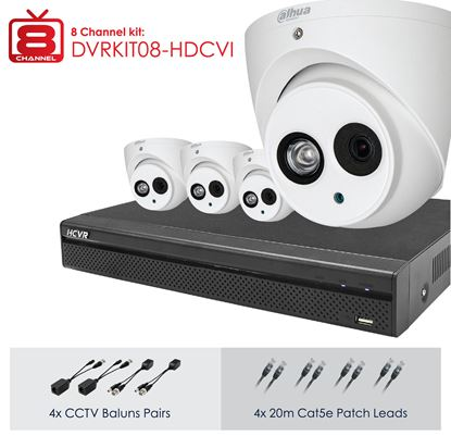Picture of DAHUA Full HD 8 Channel Digital Surveillance Kit. Incl. 8 Port HD
