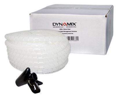 Picture of DYNAMIX 20mx15mm Easy Wrap - Cable Management Solution, Bulk Packed,