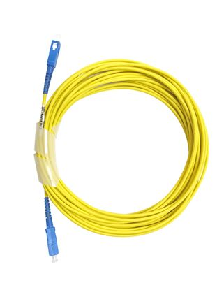 Picture of DYNAMIX 10M SCA/SCA OS2 Armoured Fibre Lead (Simplex, Single mode)