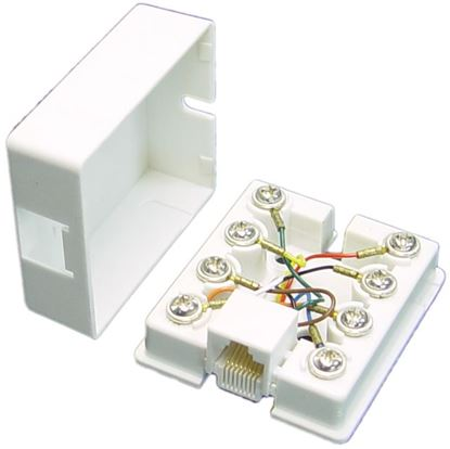 Picture of DYNAMIX RJ45 8C Surface Mount Jack Beige Colour