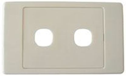 Picture of AMDEX Switch Plate ONLY. 2 Gang Wall Face Plate (Accepts Clipsal