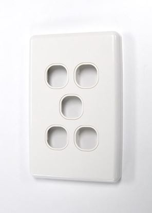 Picture of AMDEX Switch Plate ONLY. 5 Gang WPC Series Wall Face Full Cover