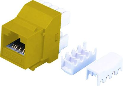 Picture of DYNAMIX Cat6 YELLOW Keystone RJ45 Jack for 110 Face Plate T568A/T568B