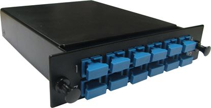 Picture of DYNAMIX MTP OS1 12 Port SC Simplex Single-mode Fibre Cassette.