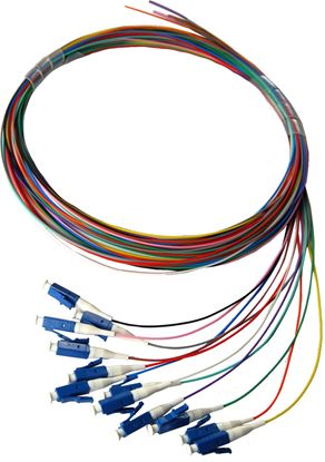 Picture of DYNAMIX 2M LC Pigtail OM1 12x Pack Colour Coded, 900um Multimode