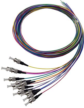 Picture of DYNAMIX 2M ST Pigtail OM1 12x Pack Colour Coded, 900um Multimode