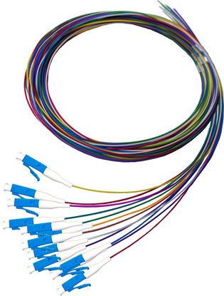Picture of DYNAMIX 2M LC Pigtail G657A1 12 Pk Colour Coded, 900um Single-mode