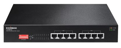Picture of EDIMAX 8 Port 10/100/1000 Gigabit PoE+ Switch with DIP Switch.
