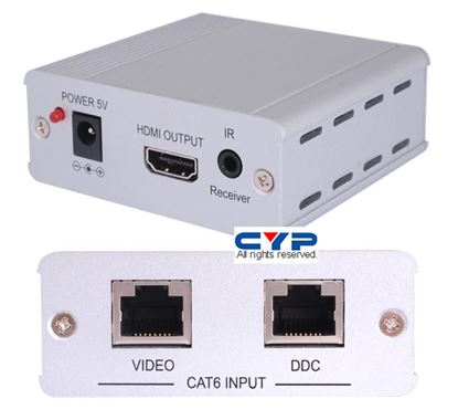 Picture of CYP HDMI Cat6 Receiver with IR HDCP 1.1 & DVI 1.0 HDMI, compliant.