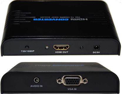 Picture of LENKENG VGA + Audio to HDMI Upscaler. Up-scales VGA to HDMI