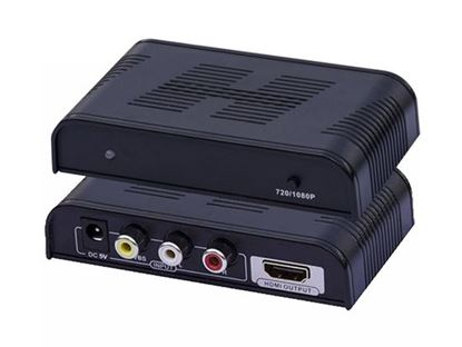 Picture of LENKENG Composite RCA to HDMI Upscaler.