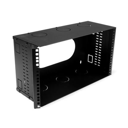 Picture of DYNAMIX 6U 200mm Deep 19' Fully Enclosed Hinged Wall Mount Bracket.