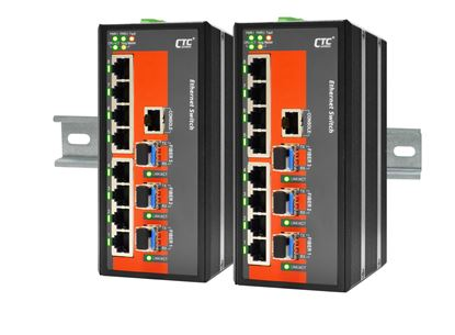 Picture of CTC UNION 8 Port Fast Ethernet Managed Switch.  -10C~60C.