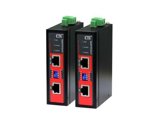 Picture of CTC UNION 1 Port Gigabit 48V DC PoE Injector. -10C~60C. PoE+ power