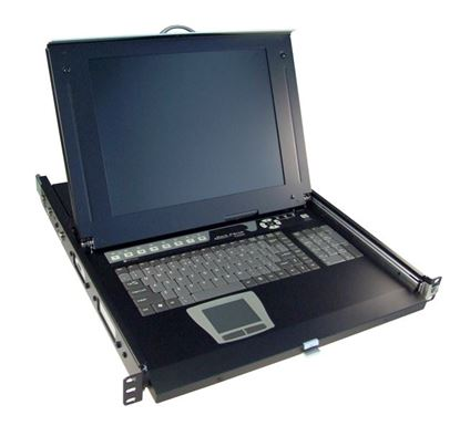Picture of REXTRON All-in-1 Integrated LCD KVM Drawer 1x console to 16x PS2 or